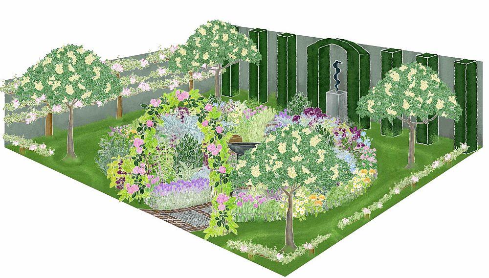adelaparvu.com despre gradina cu plante medicinale, designer Jekka McVicar, A Modern Apothecary Garden, RHS Chelsea Flower Show 2016 (12)