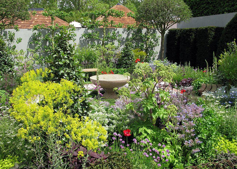 adelaparvu.com despre gradina cu plante medicinale, designer Jekka McVicar, A Modern Apothecary Garden, RHS Chelsea Flower Show 2016 (6)