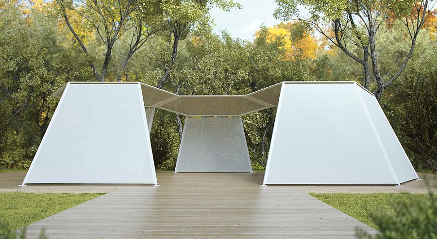 adelaparvu.com despre sistem de umbrire, Pavilion, designer Renato J. Morganti, producator Paola Lenti (3)