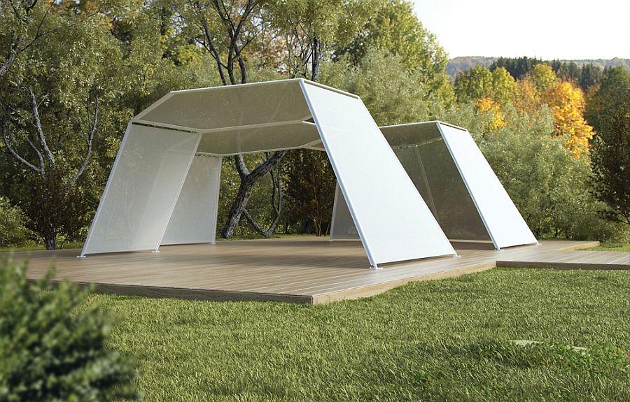 adelaparvu.com despre sistem de umbrire, Pavilion, designer Renato J. Morganti, producator Paola Lenti (4)