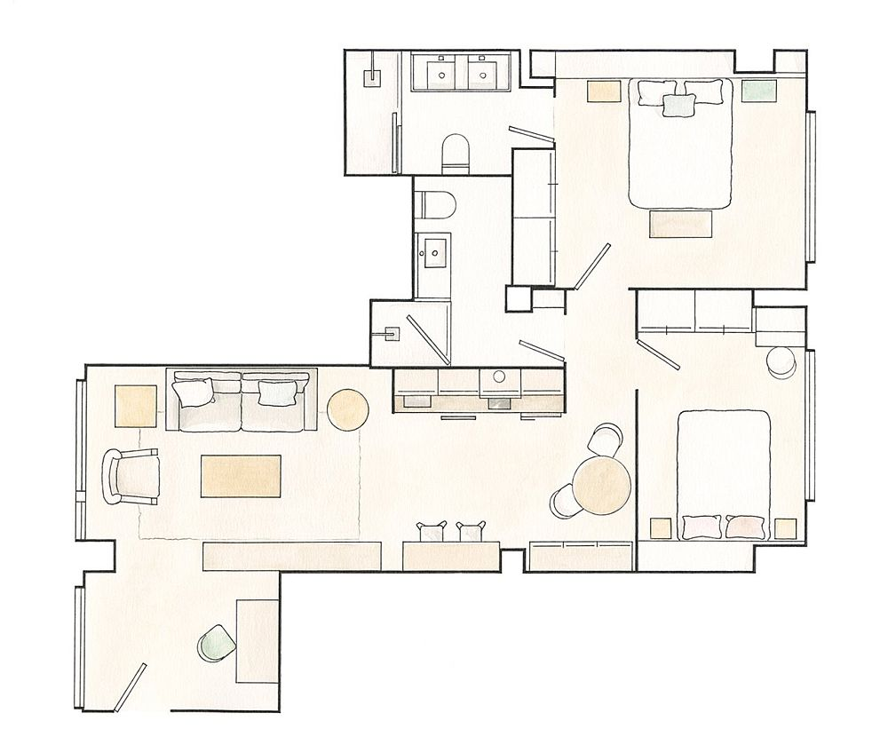 adelaparvu.com despre apartament de 65 mp, designer Mercedes Postigo (20)