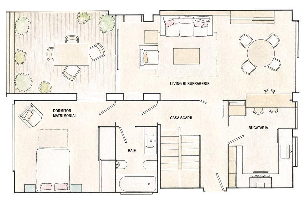 adelaparvu.com despre casa 95 mp, designer Marta Prats, schite ElMueble (1)