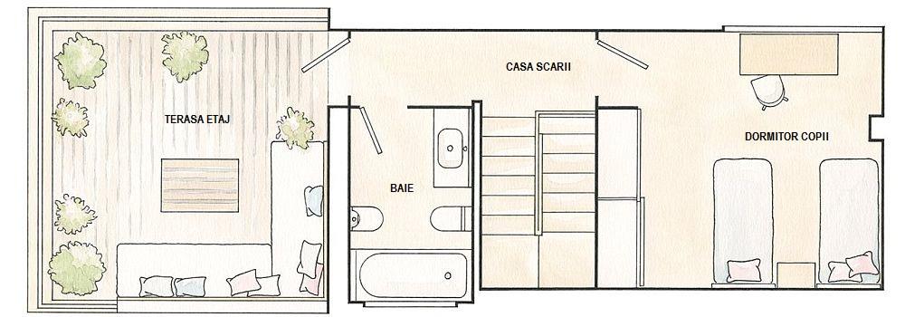 adelaparvu.com despre casa 95 mp, designer Marta Prats, schite ElMueble (2)