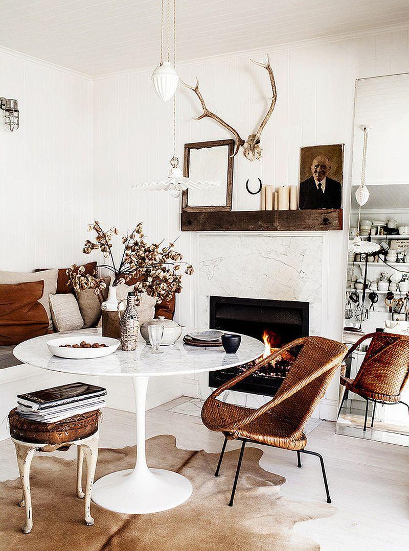 adelaparvu.com despre casa mica din lemn alba frumos decorata, design Kara Rosenlund (3)