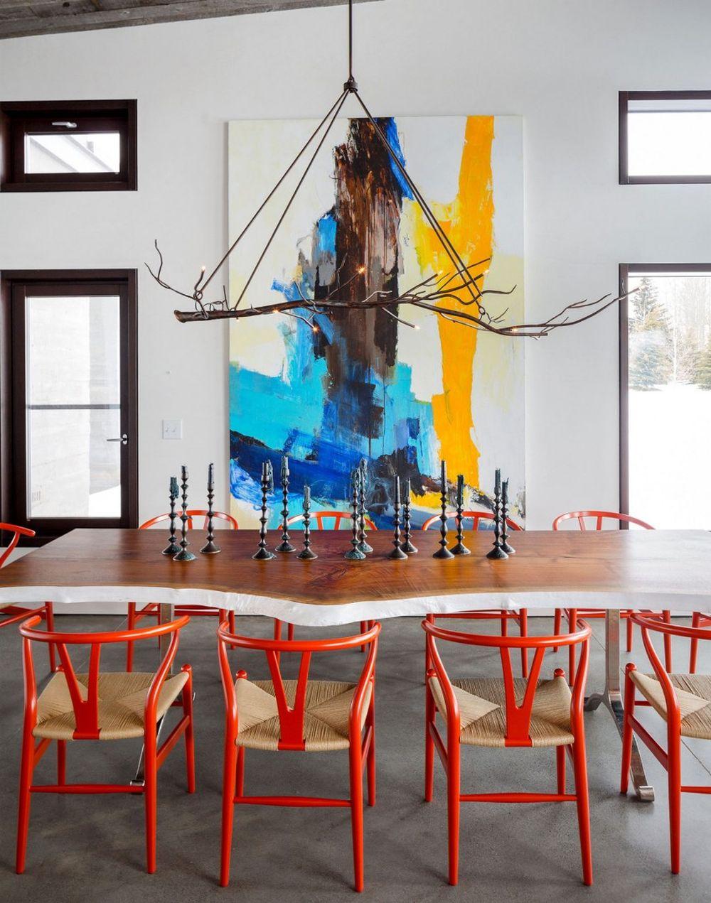 adelaparvu.com despre casa de vacanta montana in Wyoming, design Pearson Design Group (10)