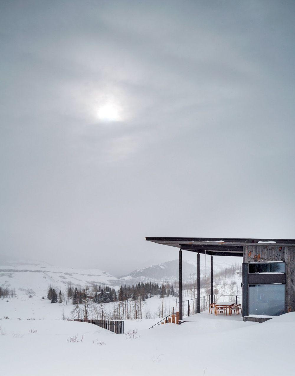 adelaparvu.com despre casa de vacanta montana in Wyoming, design Pearson Design Group (21)