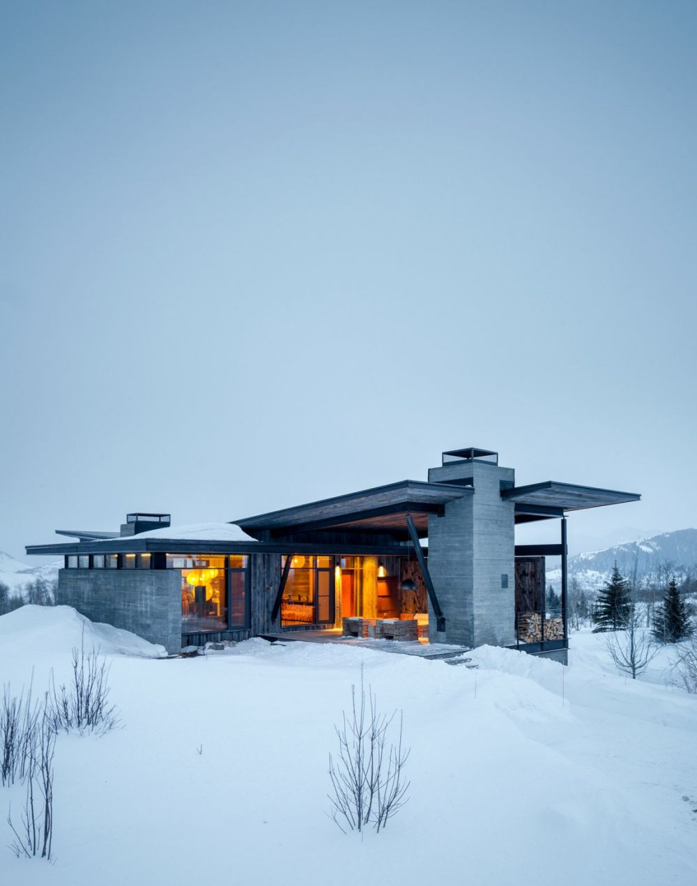 adelaparvu.com despre casa de vacanta montana in Wyoming, design Pearson Design Group (22)