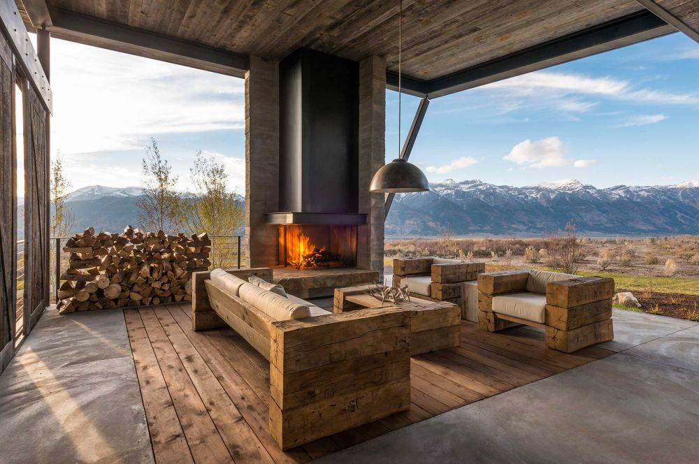adelaparvu.com despre casa de vacanta montana in Wyoming, design Pearson Design Group (25)