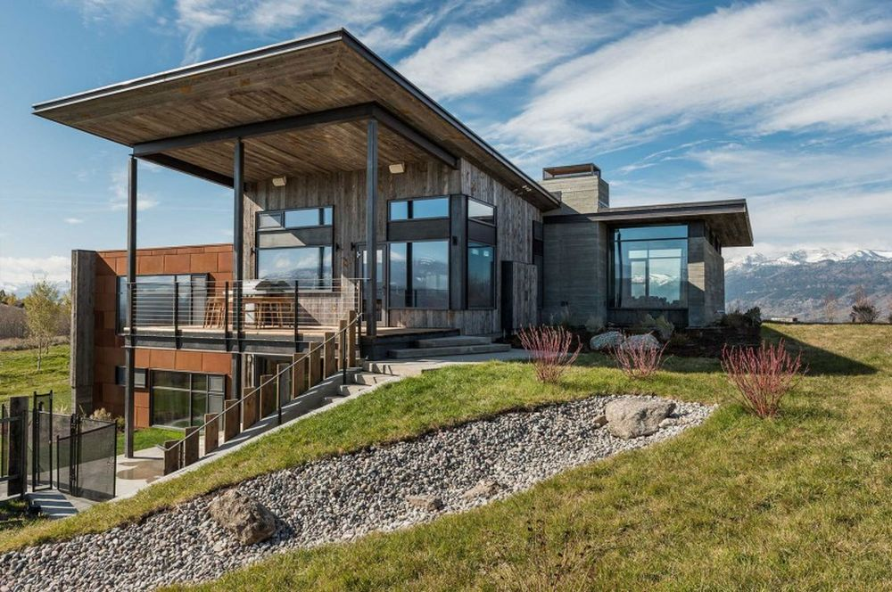 adelaparvu.com despre casa de vacanta montana in Wyoming, design Pearson Design Group (3)