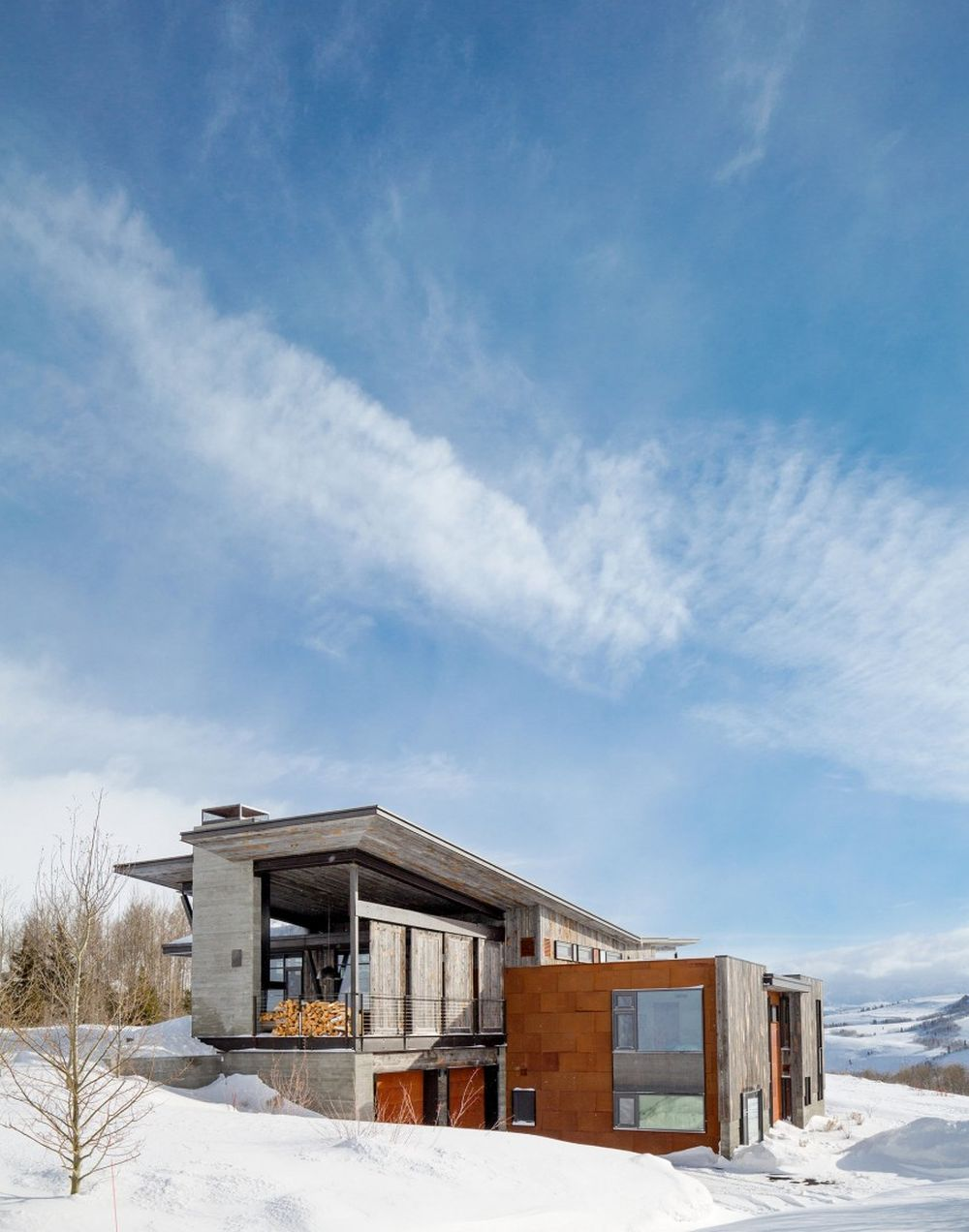 adelaparvu.com despre casa de vacanta montana in Wyoming, design Pearson Design Group (4)