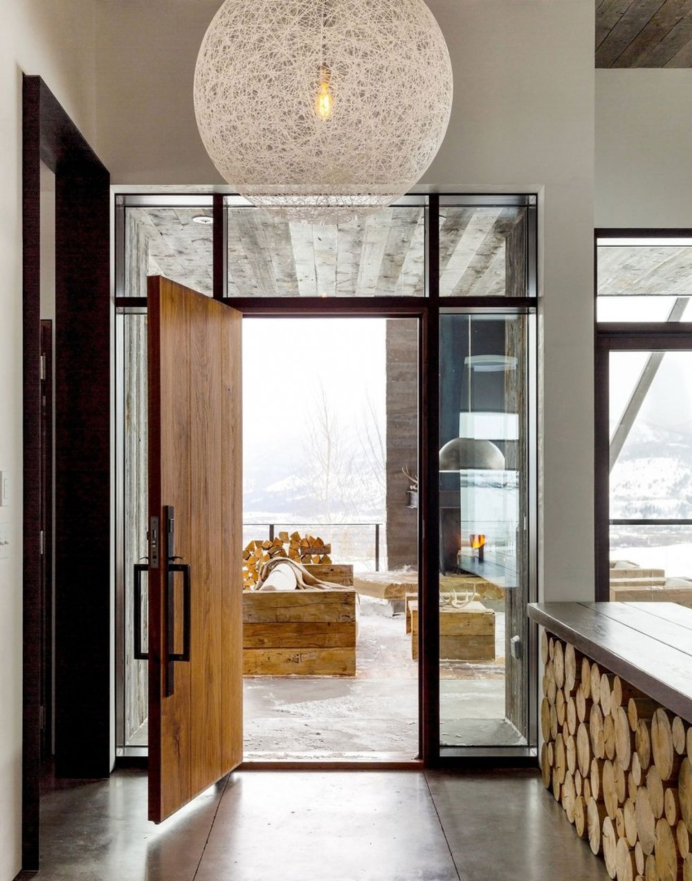 adelaparvu.com despre casa de vacanta montana in Wyoming, design Pearson Design Group (6)