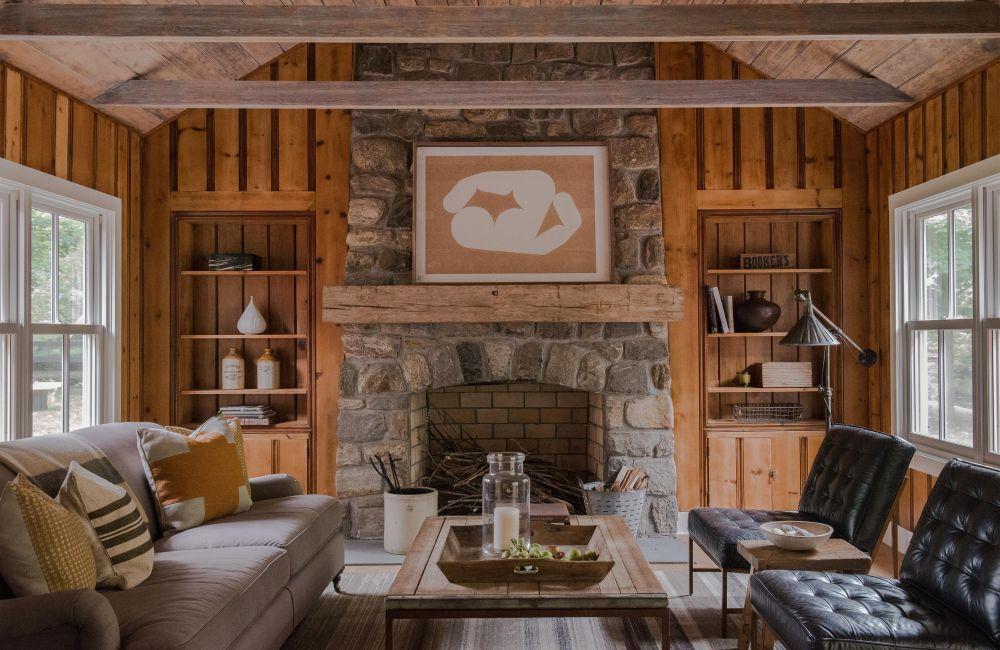 adelaparvu.com despre casa din lemn cu interior rustic actual, Design Kelly Mittleman, arch Mark Finlay, Foto Jane Beiles (13)