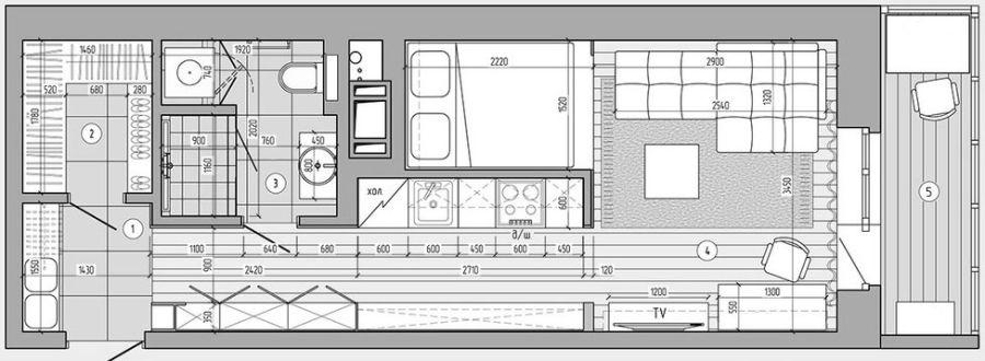 adelaparvu.com despre garsoniera 29 mp cu loc de pat, Design Andreev Timotin, Elena Timotina (14)