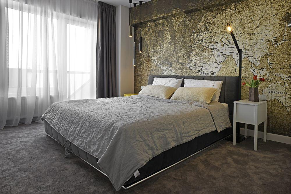 Mi-aș dori un dormitor unde să visez că voi călători peste tot în lume. Proiect Refines Urbanes, design Morphoza