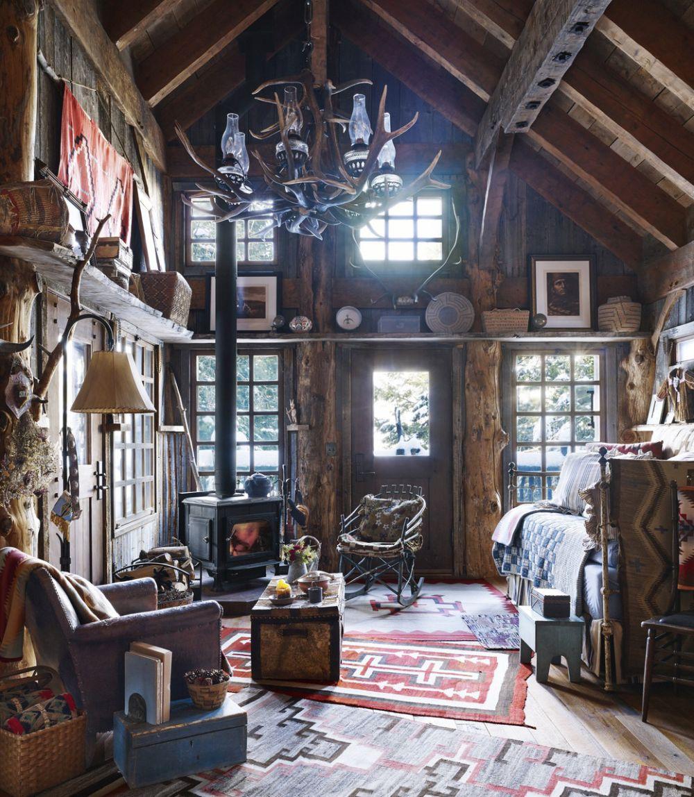 adelaparvu.com despre casa de vacanta la munte, Buffy Birrittella, Foto Elle Decor, Bjorn Wallander(2)