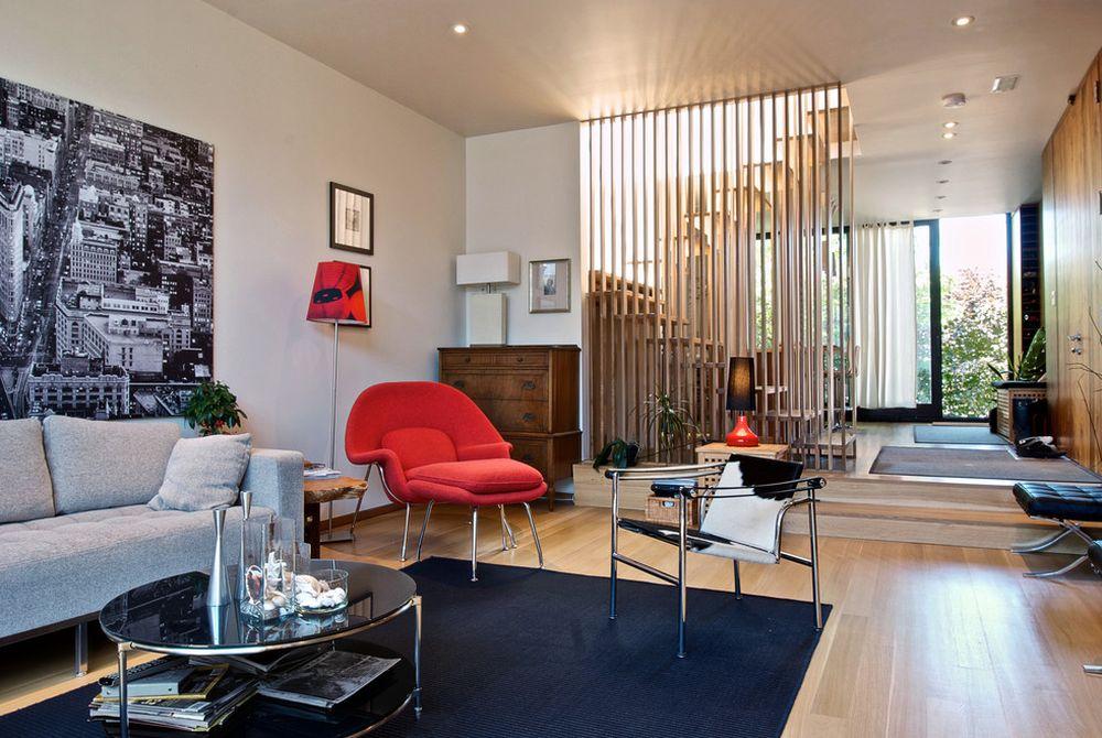 adelaparvu.com despre 30 solutii pentru separarea usii de la intrare, hol creat cu mobila si paravane, Foto Andrew Snow Photography