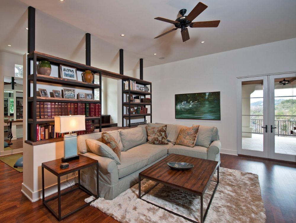 adelaparvu.com despre 30 solutii pentru separarea usii de la intrare, hol creat cu mobila si paravane, Foto Bulhon Design Associates