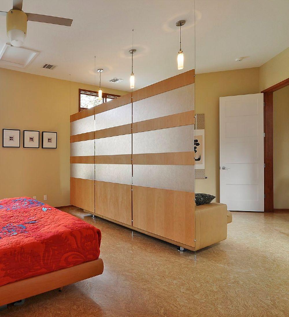 adelaparvu.com despre 30 solutii pentru separarea usii de la intrare, hol creat cu mobila si paravane, Foto Cornerstone Architects