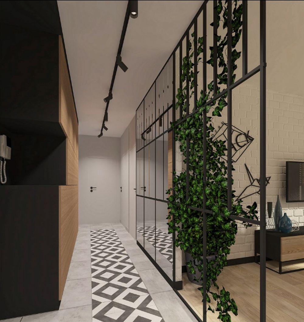 adelaparvu.com despre 30 solutii pentru separarea usii de la intrare, hol creat cu mobila si paravane, Foto Famme Design
