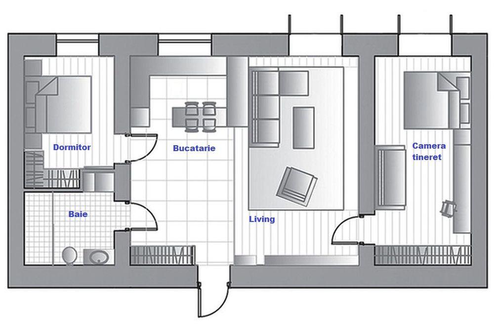adelaparvu.com despre apartament de 3 camere, 82 mp, Moscova, Designer Xenia Turik (6)