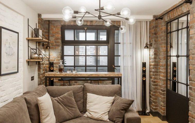adelaparvu.com despre apartament in stil industrial, designer Jenya Lykasova (1)