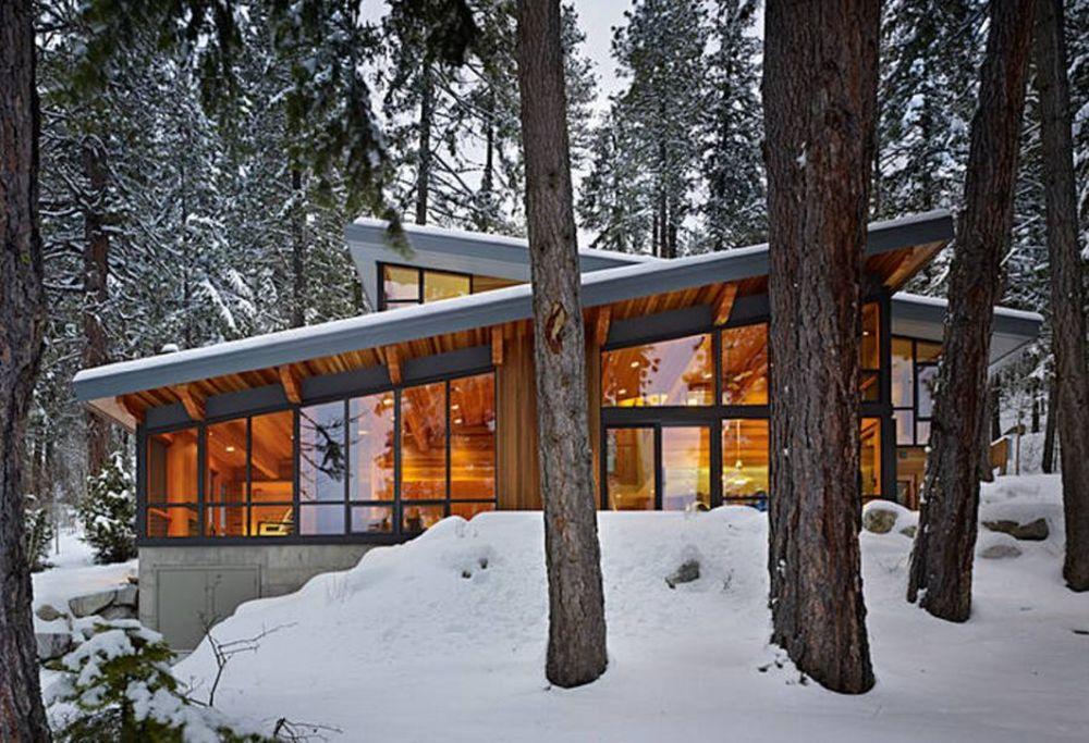 adelaparvu.com despre casa de vacanta contemporana, Design DeForest Architects, Foto Benjamin Benschneider (13)