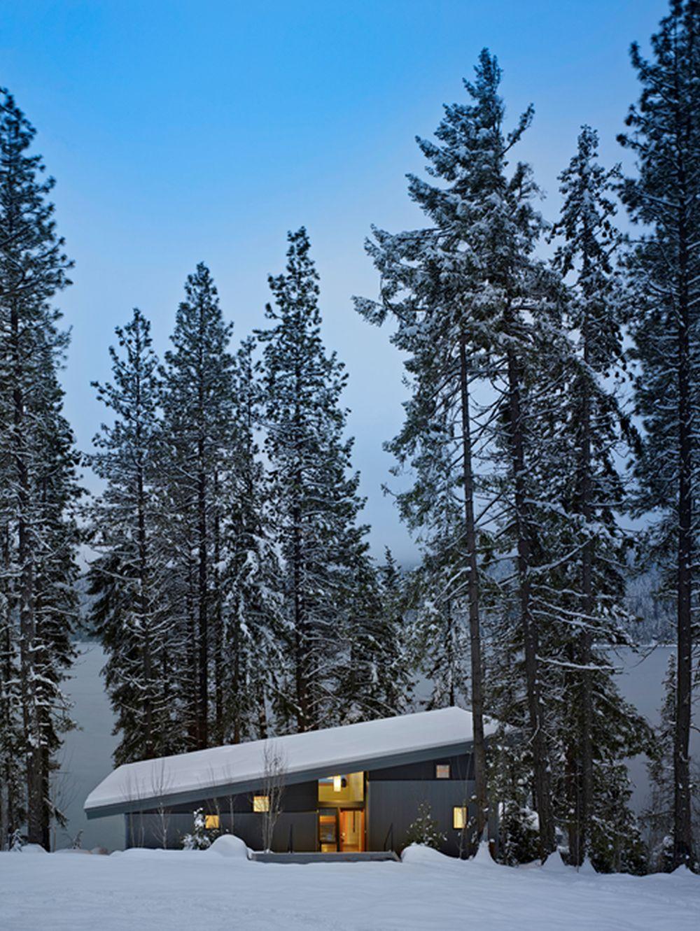 adelaparvu.com despre casa de vacanta contemporana, Design DeForest Architects, Foto Benjamin Benschneider (9)