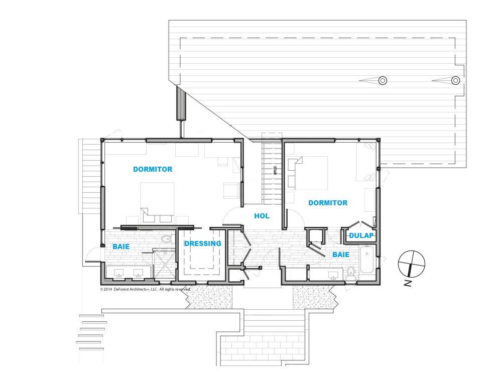 Plan mansardă, Arhitectură DeForest architects