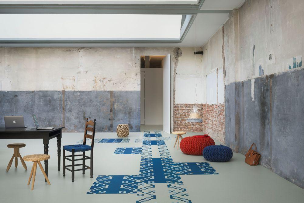 adelaparvu.com despre linoleum Forbo cu motive romanesti, colectia Folk, model Meadow, design Dare to Rug (1)