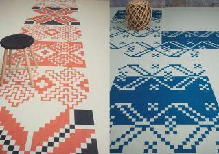 adelaparvu.com despre linoleum Forbo cu motive traditionale romanesti, colectia Folk, design Dare to Rug
