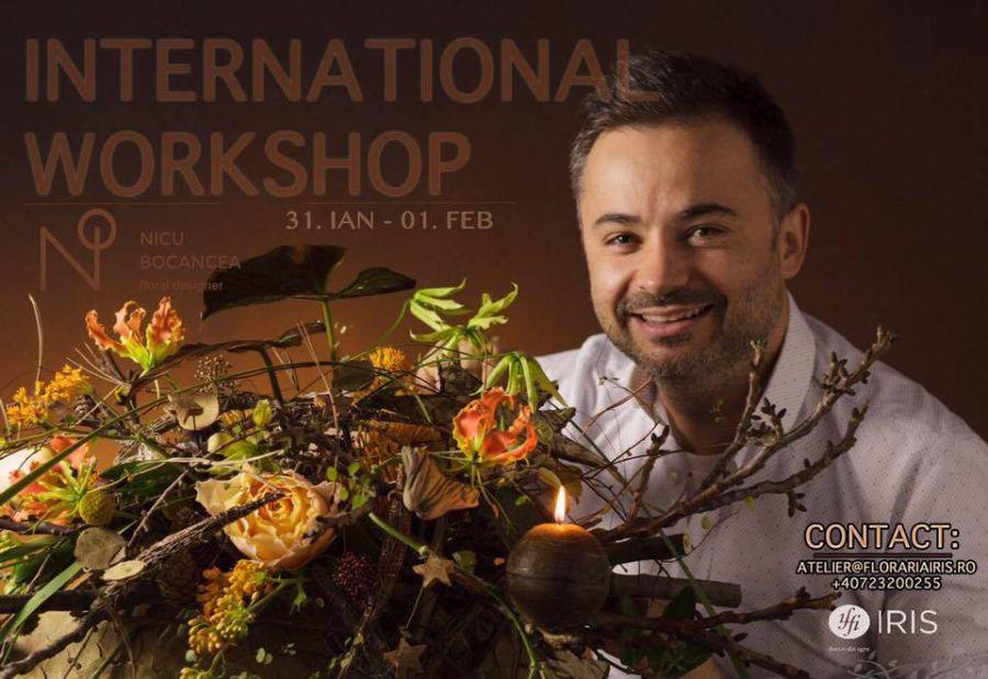 adelaparvu.com despre workshop international de design floral, designer Nicu Bocancea, Foto Floraria Iris (3)