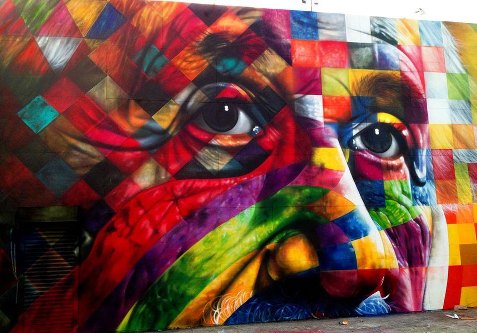 adelaparvu.com despre Eduardo Kobra artistul graffiti al oraselor, murala Einstein (2)