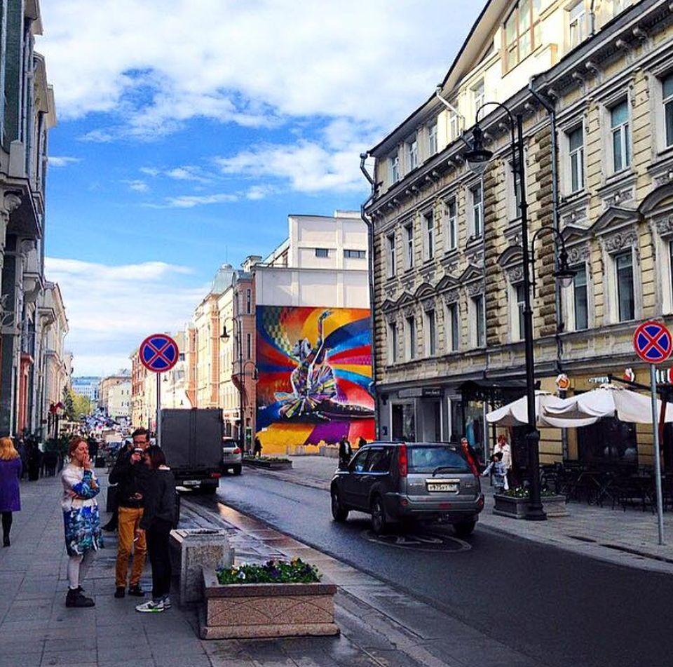adelaparvu.com despre Eduardo Kobra artistul graffiti al oraselor, murala Rusia (2)
