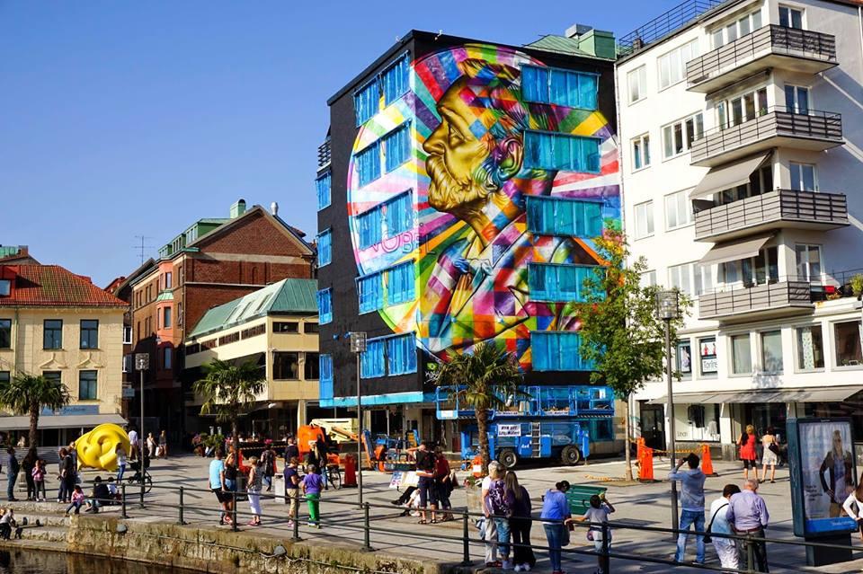 adelaparvu.com despre Eduardo Kobra artistul graffiti al oraselor, murala Suedia (1)