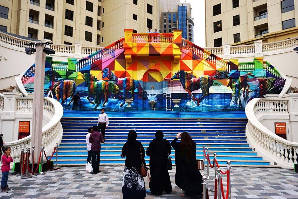adelaparvu.com despre Eduardo Kobra artistul graffiti al oraselor, murala in Dubai (1)