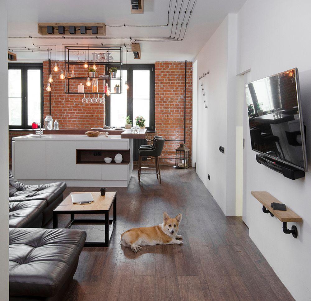 adelaparvu.com despre apartament in stil industrial, Moscova, designer Yevgeniya Razuvayeva, 9design, Foto Dean Alexandrov (10)