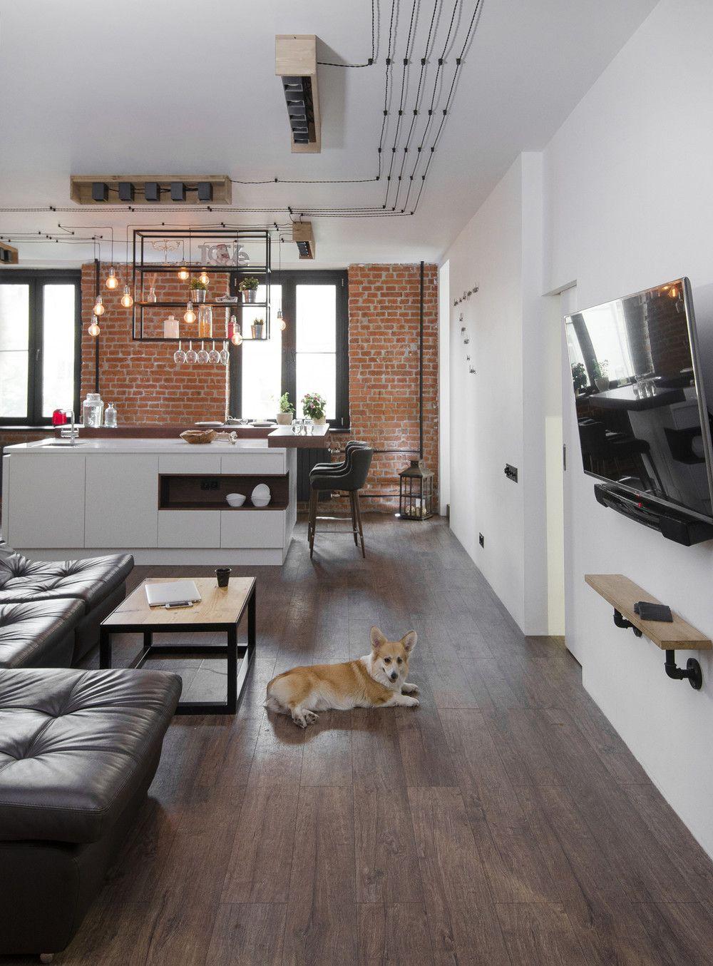 adelaparvu.com despre apartament in stil industrial, Moscova, designer Yevgeniya Razuvayeva, 9design, Foto Dean Alexandrov (18)