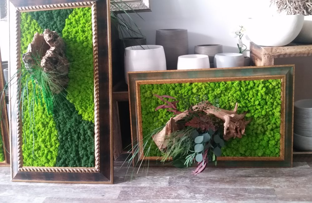 adelaparvu.com despre tablouri cu plante stabilizate, design Arta Gradinilor, Bucuresti (12)