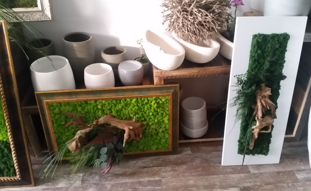 adelaparvu.com despre tablouri cu plante stabilizate, design Arta Gradinilor, Bucuresti (6)