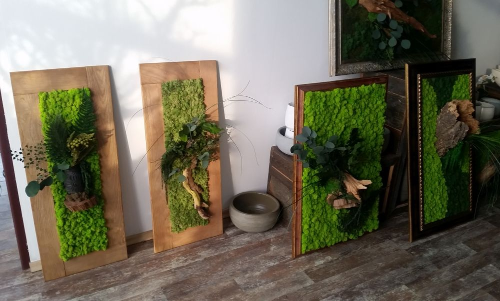adelaparvu.com despre tablouri cu plante stabilizate, design Arta Gradinilor, Bucuresti (7)