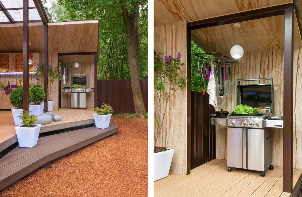 adelaparvu.com despre terasa cu bucatarie de vara,40 mp, Malakhovka, Rusia, Design Roman Belyanin si Alexei Zhbankov (10)