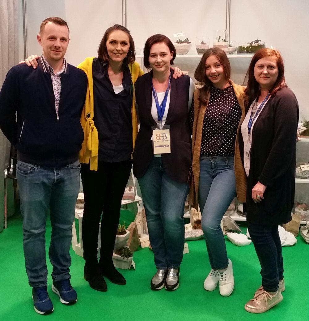 Alături de echipa Terrarium Shop la târgul de la Romexpo, 23 martie 2017. De la stânga la dreapta: Andrei Hăprean, Andra Hăprean, Bianca Blaga și Gina Bochis