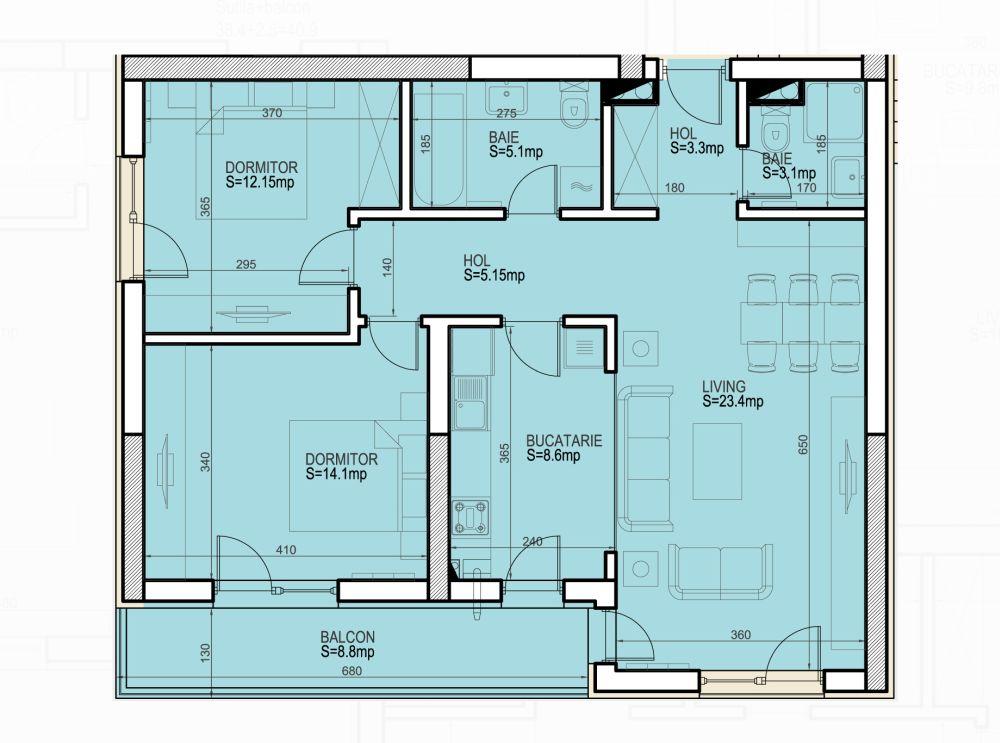 adelaparvu.com despre amenajare apartament 3 camere Bucuresti, 83 mp, plan dezvoltator