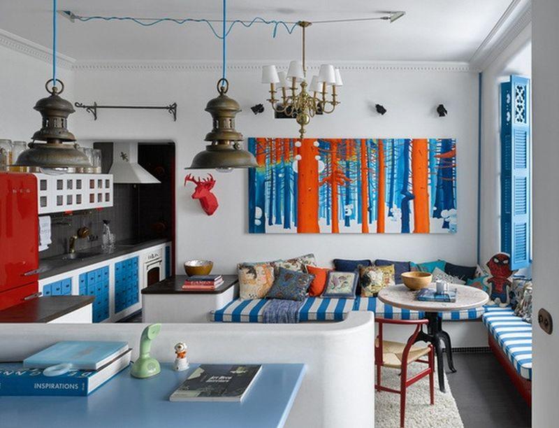 adelaparvu.com despre apartament 2 camere, 40 mp, Moscova, design Elena si Kirill Cheburashkin, Foto Sergey Ananiev (1)
