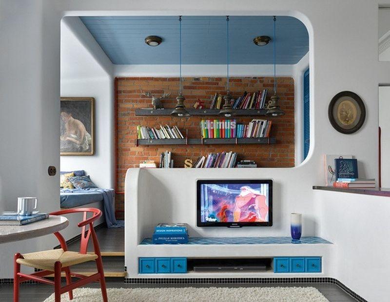adelaparvu.com despre apartament 2 camere, 40 mp, Moscova, design Elena si Kirill Cheburashkin, Foto Sergey Ananiev (2)