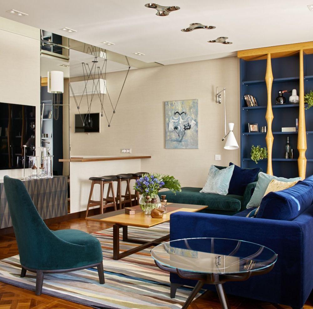 adelaparvu.com despre apartament elegant de 4 camere, Moscova, Designer Veronica Sudnikova, Foto Sergey Ananyev (5)