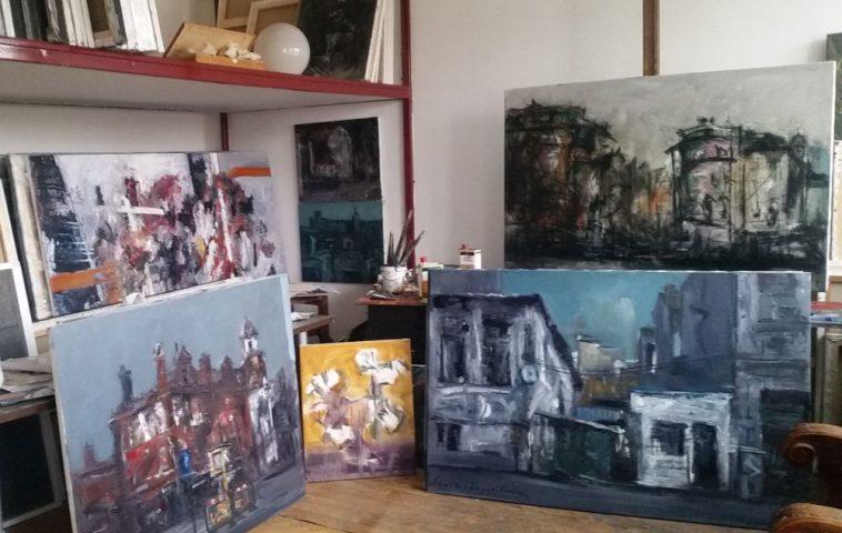 adelaparvu.com despre atelierul pictorului Eugen Raportoru, test SeeColors Samsung (26)