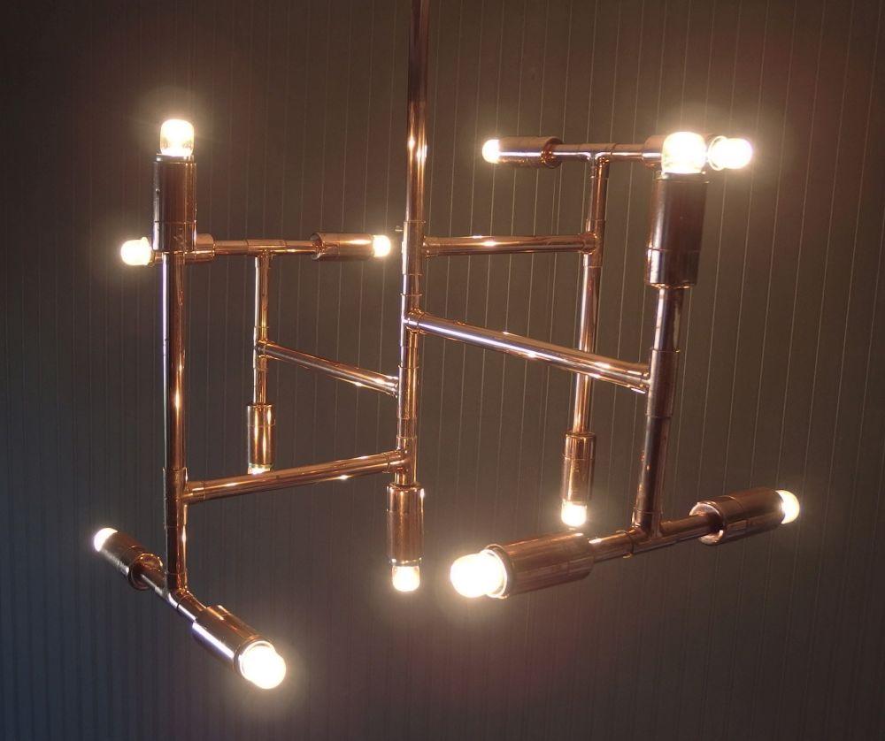 adelaparvu.com despre corpuri de iluminat cupru, Design arh. Stefan Albu