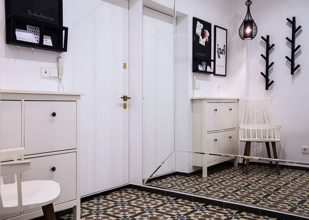 adelaparvu.com despre garsoniera 44 mp transformata in locuinta de 2 camere, Design BoHoStudio (13)