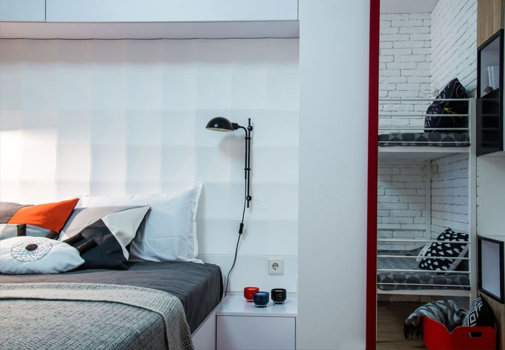 adelaparvu.com despre garsoniera 44 mp transformata in locuinta de 2 camere, Design BoHoStudio (18)
